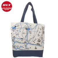 Canvas Fashion Bags Ladies Handbags with Flower Printing