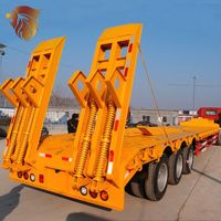 HYUAN low price 3 axle platform semi-trailer low bed semi trailer low bed trailer for sale thumbnail image