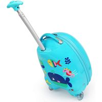 Kids Rolling Backpack 16 inch Boys and Girls Luggage, Blue thumbnail image