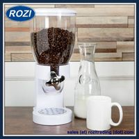 White Single Cereal Dispenser Holds 17.5 Ounces of Dry Food thumbnail image