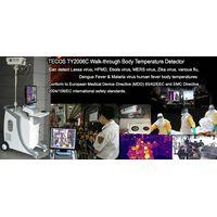 Walk-through big range scan body fever thermometer, flu & virus body fever scanner