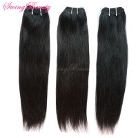 Top Grade Factory Wholesale 100% Raw Human Hair Weaving Weft Extension thumbnail image