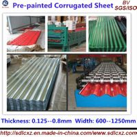 Galvanized Corrugated Steel Roofing Sheet ( 0.13--0.8mm)