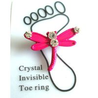 Classy style zinc alloy pink dragonfly eco-friendly healthy toe ring