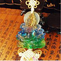 liuli car crystal ornaments------colered glaze green tara thumbnail image