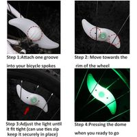 LED bicycle spoke lamp mountain bike willow steel wire lamp colorful wind fire wheel thumbnail image