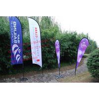 Different Shape Advertising beach flagpoles