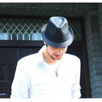 men summer straw fedora hat