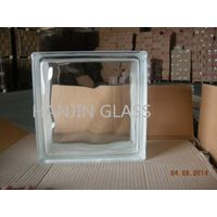 Clear cloudy glass block with the size 190x190x80mm