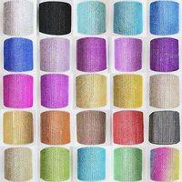 24rows Wholesale wedding decoration rhinestone rhinestone plastic net mesh. Hot fix rhinestone mesh