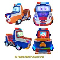 new arrival coin operated games 3d fire truck Kiddie ride swing game machine car racing game machine