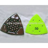 Triangle Resin Diamond Concrete Polishing Pads