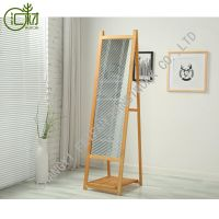big standing floor full length cheval mirror with shelf