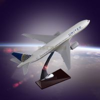 The Model of Aircraft for Sale United Airlines Boeing 777 Resin Engine Blade Hollow Design