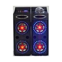 double 10inch floor standing speakers with crystal light