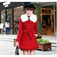 LONG FUR COLLAR LADIES COAT