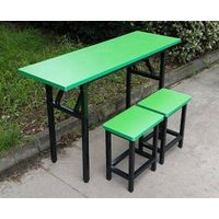 iron frame table and chair set