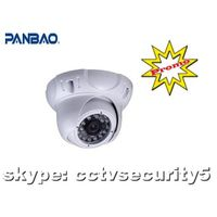 IR dome camera with adjustable 2.8-12mm lens