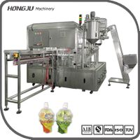 Wholesale ice cream jelly liquid automatic standing bag spout pouch filling capping machine