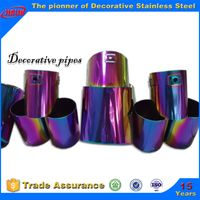 Bizarre stainless steel color tube for ornamental material building construction use