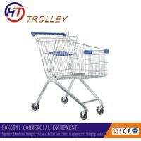 high quality metal grocery shopping cart four wheels wholesale
