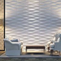 Househould Archiboard fiber material 3d wall art decorative wall panel embossed