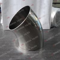 Stainless Steel Sanitary 45D Elbow Short Bend Pipe Fittings thumbnail image