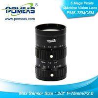 "2/3""5MP FL75mm Machine Vision Lens"