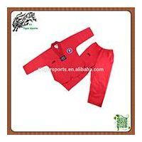 wholesale V neck red taekwondo uniforms thumbnail image
