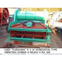 USED FURUKAWA 1800MM X 4200MM (6FT X 14FT) HORIZONTAL TYPE VIBRATING SCREEN (2 DECKS) S/NO. 826 thumbnail image