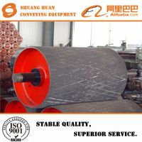 Rubber coating conveyor drive pulley for mine from China supplier