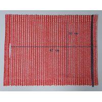 potato raschel bag with handle 30x47cm, red