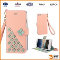 Mobile Phone Case PU Leather Case for iPhone 6 Cover China Wholesale