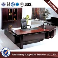 Antique solid wood veneer CEO table executive desk office furniture HX-CK010