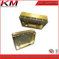 Machinery fitting plating aluminum square heat sink parts