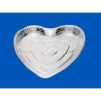 heart aluminum foil container
