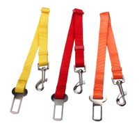 Car seat dog leashes for sale: Solid color dog leashes with metal hooks