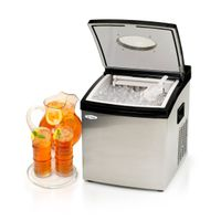 10-15KG/24hrs portable mini ice maker with stainless steel shell and thransparent,high density,uneas