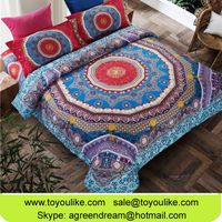 Bohemia Exotic Bedding Set Flower Printed Duvet Cover Bed Linen Queen Size Bedclothes Bedspreads
