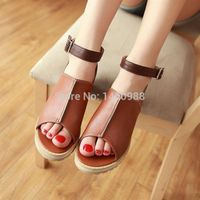 Fashion Flat Lady PU Sandals, Women Casual Shoes Ankle Wrap