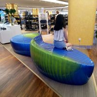 Modern pubulic outdoor shopping mall fiberglass seating