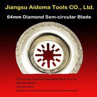 Semi-circular Oscillating diamond saw blade fits Fein, Bosch, Rockwell, rigid multi-tools