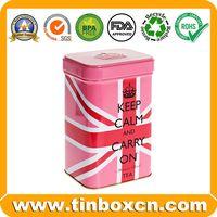 Custom Square Metal English Afternoon Tea Tin Box