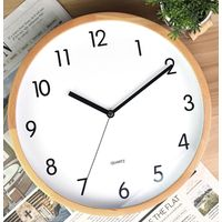 wooden& bamboo wall clock