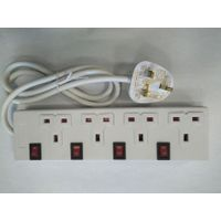 4 way BS electrical outlet with individual switches