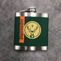 Hot stainless steel hip flask with water transfer painting for customized logo