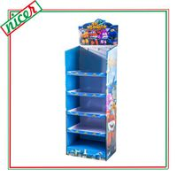 Corrugated 5 Shelves Shop Display With Pegs