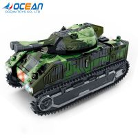 Battery operated deformation robot military army tank toys with light music thumbnail image