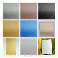 High Quality Decorative Color NO.4 stain Stainless Steel Sheet per kg