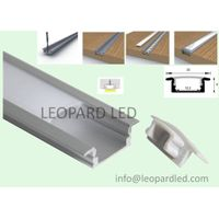 Recessed super slim 8mm recessed led aluminium profiles